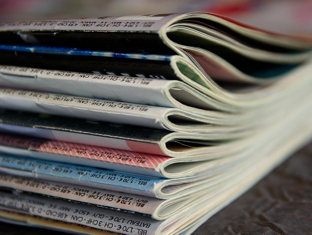magazines, reading, journals